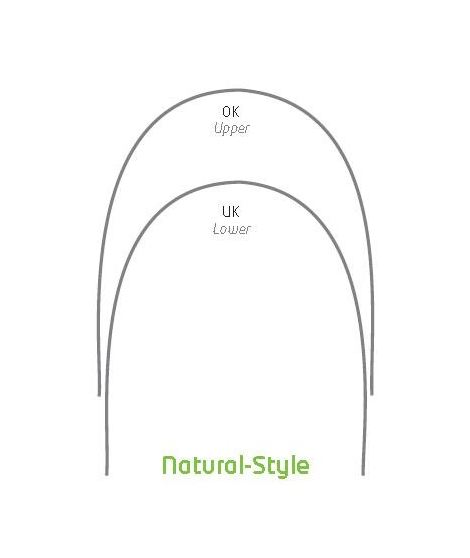 Niti Reverse Curve Square & Rectangular Natural-Style