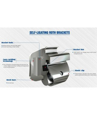 Self-Ligating I Metal Brackets