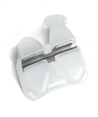 Clear Ceramic Bracket with Metal Slot